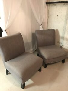 Gorgeous large slipper chairs