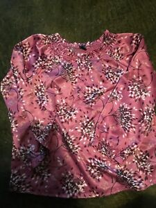 Gap silk ruched gap rose and brown blouse toddler 5