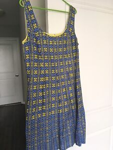 Nine West blue and yellow summer dress s 14