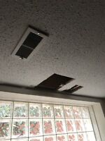 Ceiling repair with stucco