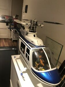 RC JET RANGER 90 size helicopter with 90 OS ENGINE