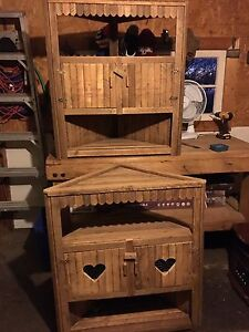 Tobacco Slat Corner Cabinets,Barn Board Benches,Wine Boxes