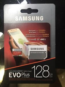 Samsung micro sd+ adapter  128GB sealed