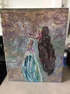 Belly dancer oil painting