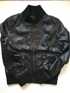 Forever 21 Woman's medium black faux bomber jacket