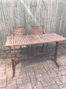Timber Table and Chairs Setting