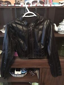 Leather guess jacket size medium