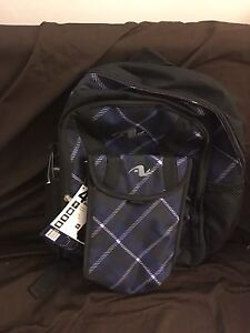 New blue, gray and black kids backpack
