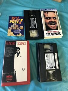 2 classic VHS MOVIES SCARFACE & THE SHINNING