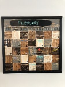 Perfectly Imperfect Rustic Reclaimed Wood Calendars