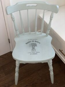 Shabby chic chalk painted wooden chair