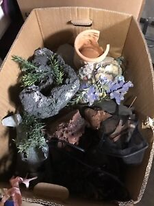 Big box of fish decorations for sale