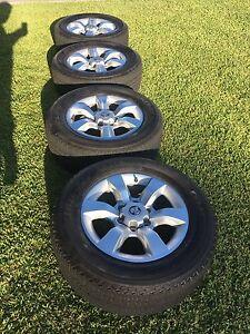 """Holden colorado 7/colorado 18"""" alloy rims and tyres Buttaba Lake Macquarie Area Preview"""