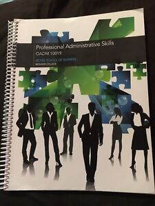 Used Professional Administrative Skills Text Book OADM10019