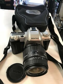 Pentax MZ-50 includes Optex Bag and Sigma Lid