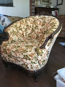 Antique couch and chair