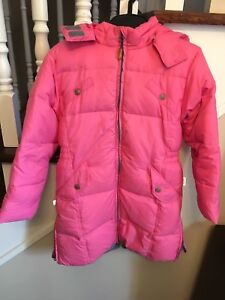 Winter coat with natural filling, for height 116 sm (5-7 yo)