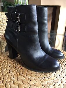 Genuine leather ankle boots size8