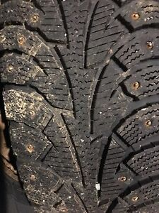 4  Studded Hankook Snow Tires 185/70R 14