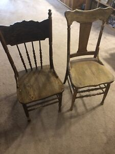Antique Pressback Chairs & Table