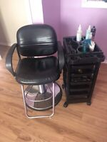 Salon chair and trolley