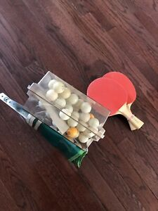 Table Tennis Net, Balls and Paddles