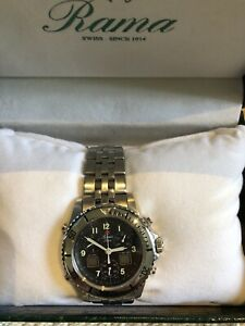 Authentic High end Swiss Made Rama Chronograph Men Watch