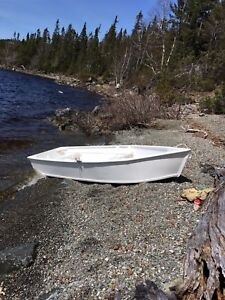 Plywood Boat and Outboard Motor