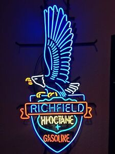 Huge Case Richfield Gasoline Oil Tractor NEON tube sign 3ftx2ft