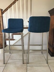 Blue bar height bar stools