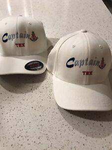 CAPS x 2  white  (Captain Tex) Woody Point Redcliffe Area Preview