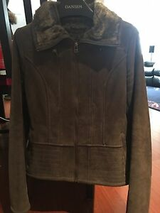 Danier Leather Jacket with Fur Lining