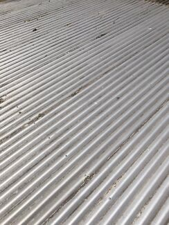 Recycled zinc corrugated iron roof sheets 5.4 m Vic