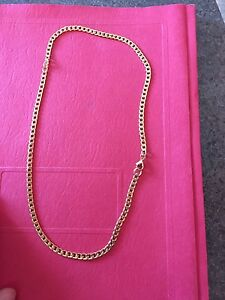 20 inch 5mm stainless steal gold chain