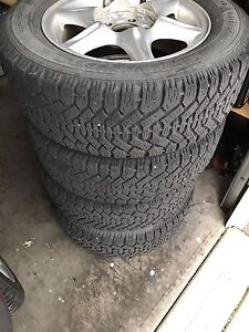 P215/60R15 Goodyear Nordic Winter Tires and Rims