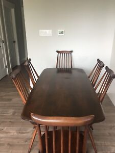 Mid-century dining room table and chairs