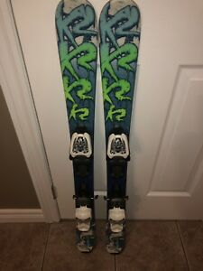 "Kids K2 ""Indy"" skis (100cm) boys/girls"