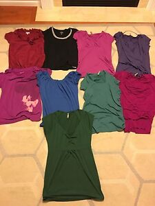 9 maternity tops - all size small and medium