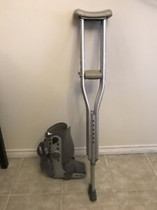 Crutches and small air cast