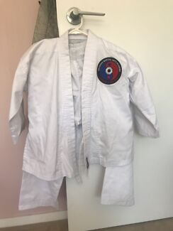 Brisbane Martial arts academy pants and jacket  fit 8 -10 yr old