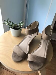 Verali Beige Strappy Wedge North Narrabeen Pittwater Area Preview