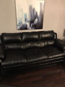 Leather sofa set (black)