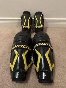 """Vic Hockey Shin Guards (8"""") & Elbow pads (Youth M) for kids"""