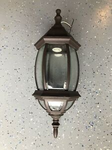 Outdoor Wall Mounted Lantern - dark brown