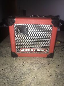 Roland Micro Cube Guitar Amp (with cords)