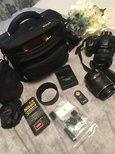 Nikon D3200 with 2 lenses and accessories