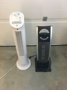 Two fans. Left is cold (sold) right is hot and cold (not sold)