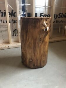 Rustic end table/ stool
