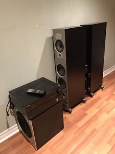 Onkyo and polk audio sound system