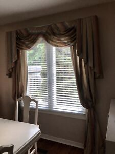 2 Curtain Window Coverings - includes curtain rods